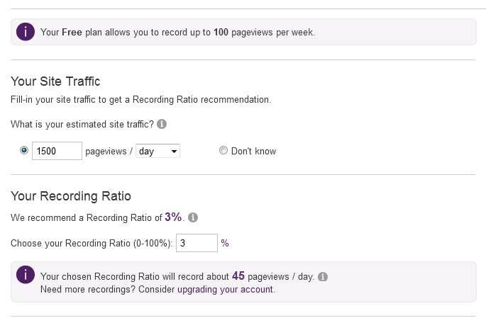 Tráfico estimado de tu sitio web