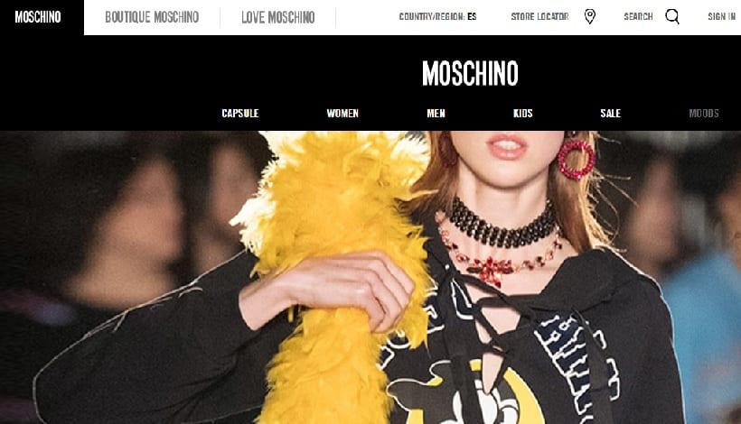 El comercio digital de Moschino